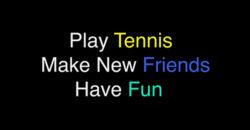 Tennis Team PSA